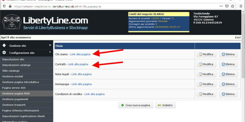 Link Facile Su E-commerce