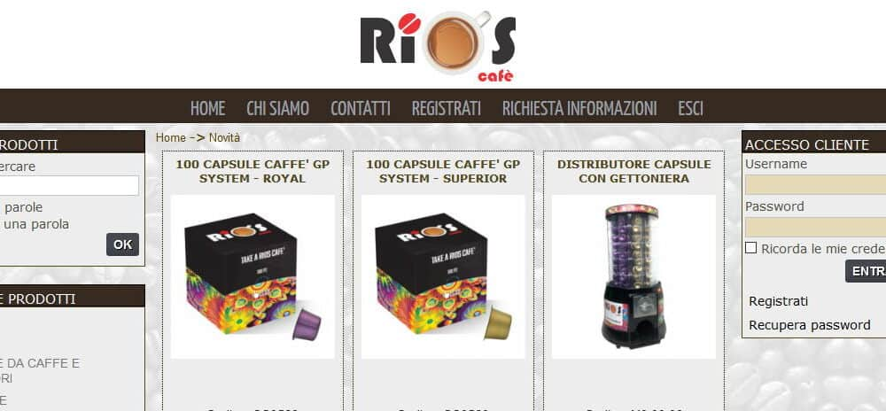 Rioscafe Un E-commerce Per Fare Business